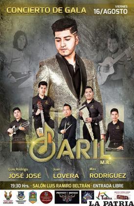 Gala de Daril Muñoz será el viernes 16 de agosto /GAMO