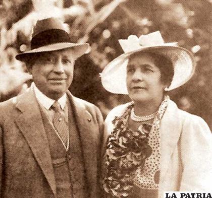 Simón I. Patiño y su esposa Albina