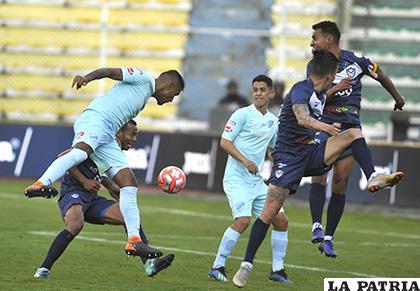 La última vez que jugaron en La Paz, ganó San José (3-2) el 07/04/2019 /APG