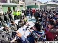La conferencia de prensa brindada ayer por la autoridad policial /LA PATRIA