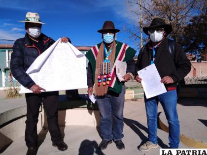 Las autoridades originarias de Sora afirman ser los propietarios genuinos del sector de Rancho Quitaya /Ovidio Cayoja /LA PATRIA