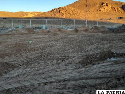 El lugar donde presuntamente fueron enterrados los cuerpos de la CNS /LA PATRIA