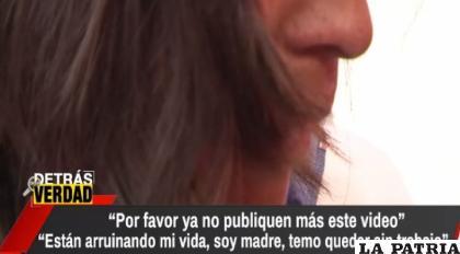 La mujer en plena entrevista en el programa de Junior Arias /brujuladigital.net