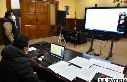 La reunión del COED se realizó este sábado mediante las plataformas digitales /Gad-Oru
