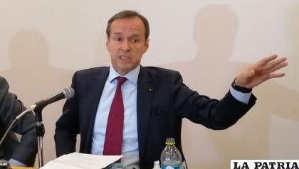 """Quiroga se refirió al caso """"fraude"""" en conferencia de prensa /Archivo Erbol"""