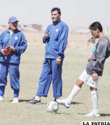 Cárdenas, Ferrufino y Loaiza en el entrenamiento de San José