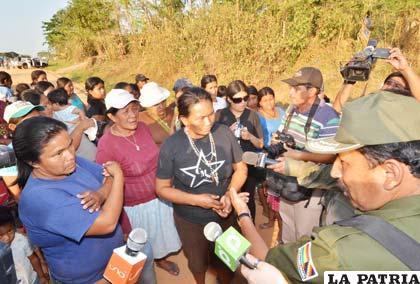 Guaraníes no abandonan marcha por el Tipnis