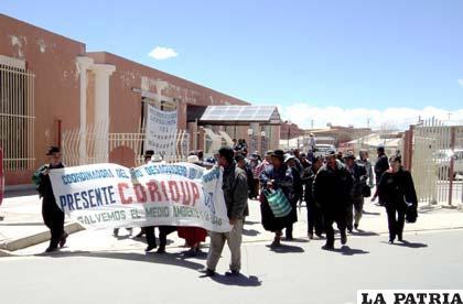 Miembros del Coridup marcharán hacia La Paz