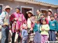 El Presidente Morales, entregando una de las 312 viviendas, ayer en Lagunillas