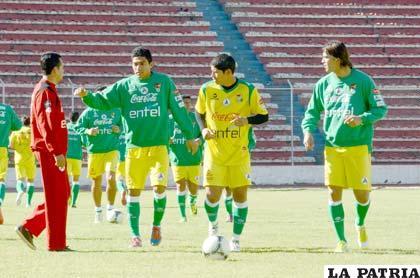 Alcides Peña y Marcelo Martins delanteros de la selección nacional (foto: APG)