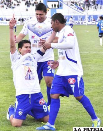 """Saucedo goleador del equipo """"santo"""""""