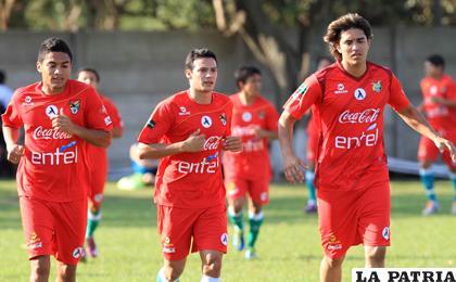 Peña, Chávez y Martins jugadores de la Selección (foto: APG)
