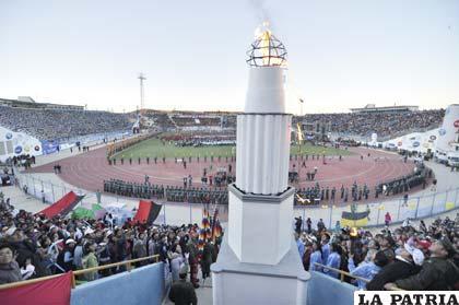 Una jornada emotiva vivió Oruro con la inauguración  de la competencia deportiva estudiantil