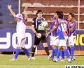 Los jugadores de La Paz FC tienen la obligación de vencer el partido (foto: APG)