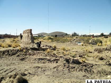 La parte posterior del Regimiento Braun donde se presume haber encontrado el objeto