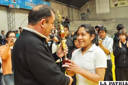 Dayne Cruz fue la capitana de la selección de Oruro