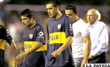 La amargura de los jugadores de Boca Juniors