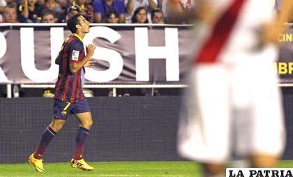 Pedro estuvo acertado en el partido ante el Rayo