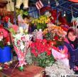 Venta de flores por el día del amor