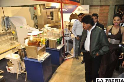 El presidente Evo Morales estuvo presente en la inauguración del año pasado