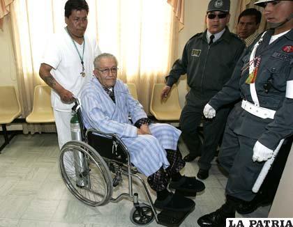 Exdictador Luis García Meza retorna a la cárcel