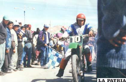 Moisés Vargas durante la competencia Integración Minera de 1995