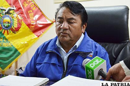 Eduardo García, director departamental de Educación