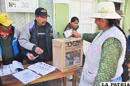 El pueblo se expresa a través del voto