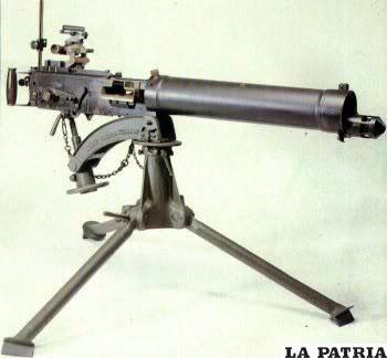 La ametralladora Vickers inglesa que fue utilizada por los bolivianos /alcatraz715.blogspot.com