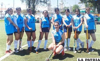 El equipo femenino de hockey