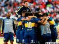 El festejo de los jugadores de Boca Junior /foxsportsla.com