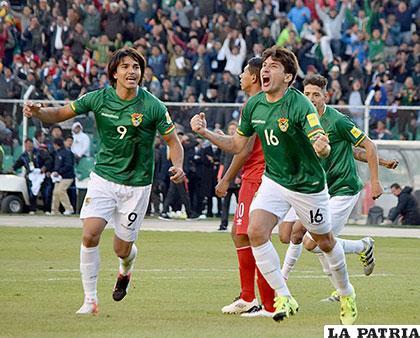 Ronald Raldes (16), fue autor del segundo gol boliviano