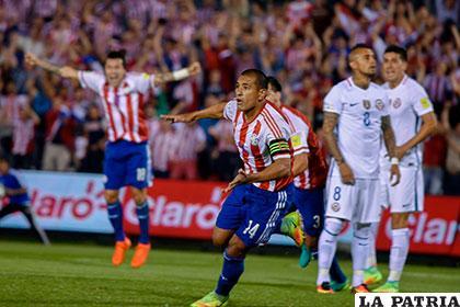 Paulo Da Silva anotó el segundo gol de los paraguayos /eluniverso.com
