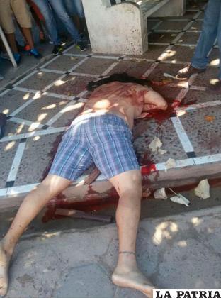 En esta posición fue encontrado el cuerpo del interno sin vida