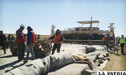 Trabajos que se ejecutan en el tramo Kulluri-Ancaravi