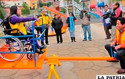 Parque inclusivo de Las Cebras /GAMLP