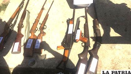 Armas que secuestraron los policías