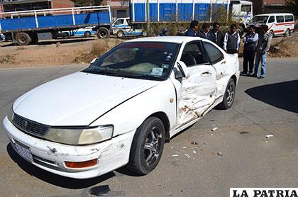 El vehículo que realizó la mala maniobra en la avenida Dehene entre las calles