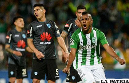 Miguel Ángel Borja anotó el gol del triunfo para los colombianos