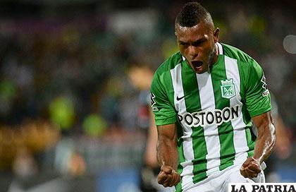 Miguel Ángel Borja, autor del único gol del partido /conmebol.com