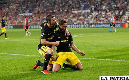 Saúl, a los 43 minutos, anotó el gol para el triunfo del Atlético /AS.COM