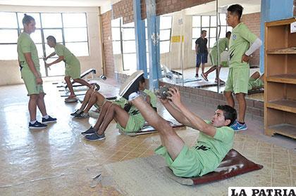 La preparación en el gimnasio fue bastante exigente