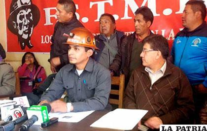 Trabajadores mineros están enojados con el presidente de Comibol /ANF