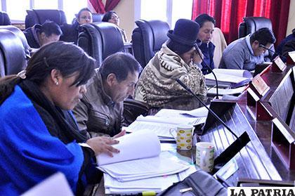Sesión ordinaria de la Asamblea Legislativa Departamental de Oruro (ALDO) /Archivo