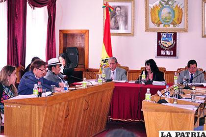 En la sesión del Concejo hubo bastante debate por la aprobación del POA