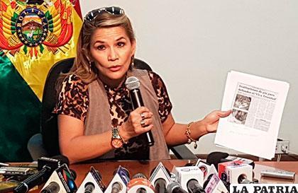 La senadora Añez quiere que el Gobierno intervenga en el supuesto plagio /UD
