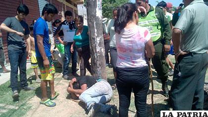 El individuo fue entregado a funcionarios policiales