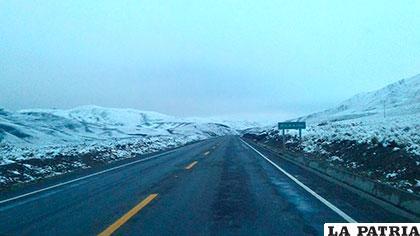Debido a las nevadas los conductores deben tomar las precauciones necesarias /ABC