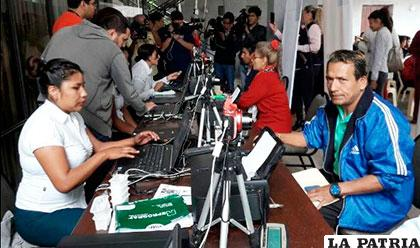 El empadronamiento se llevó a cabo en todos los departamentos de Bolivia /Eldeber.com