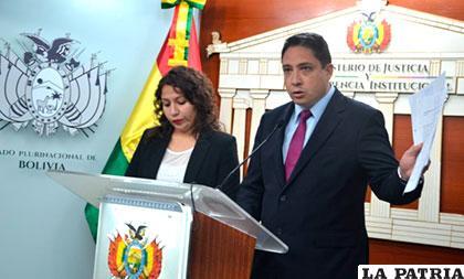 Ministros informan sobre la situación judicial en el caso de Nahomi /ANF